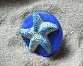 Handpainted Resin and Polymer Clay Ring - TREASURE Of THE SEA 2