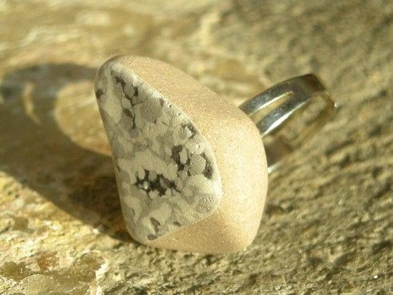 MEDITERRANEO Genuine Mediterranean Beach Pottery Ring - No5