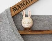 Mr Bunny brooch