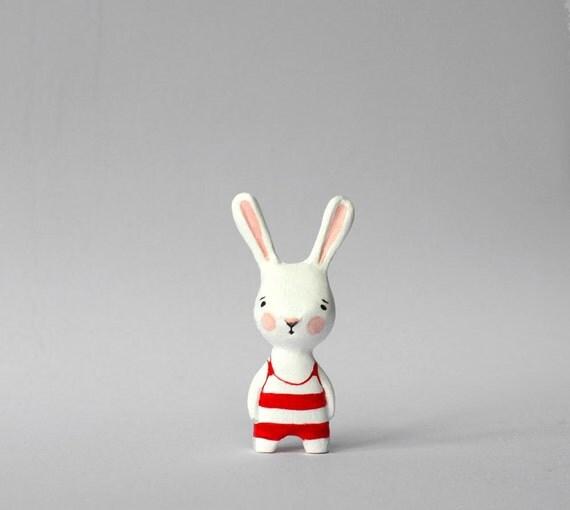 Real bunny - mini art doll