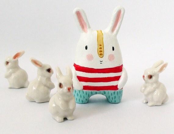Miniature art doll- Bunny from Mars