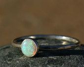Opal Ring, Birthstone Ring, October Birthstone, Opal Ring,  Stacking Ring