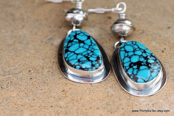 Cowgirl Turquoise Sterling Silver Earrings