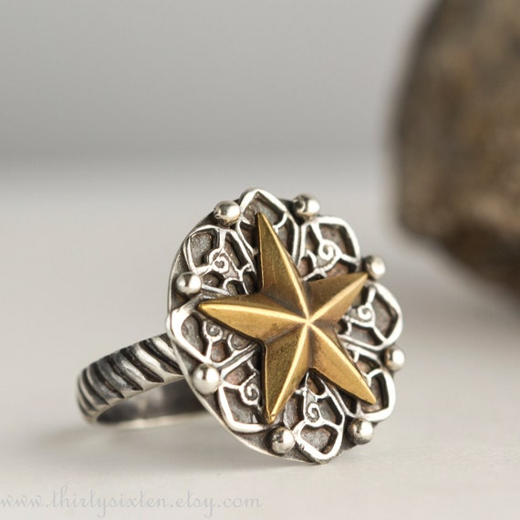 Cowgirl Chic Sterling Star Ring