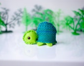 Hand sewn soft sculpture - Tom the turtle. tmt theteam