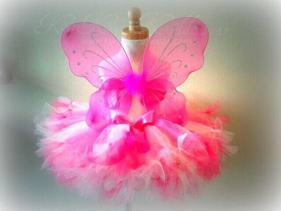 Pinkalicious Petti-Tutu...12 inch length...Rose...Shocking...Glitter... Toddler...Photography Props...Newborn...Girls