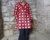 SALE - meerwiibli polka kimono raincoat  - last one - size XS-S