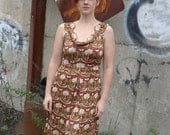 meerwiibli mythical creatures scalloped silk jersey dress size L in stock