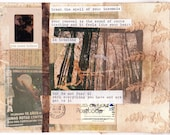 Break the Spell - Collage/Mixed Media Inspirational Poetry and Art Greeting Card