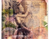 Open Arms, Open Heart - Collage/Mixed Media Love and Inspiration Greeting Card