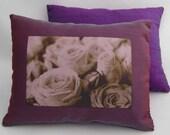 Lavender Silk Dream Pillow - Purple Roses