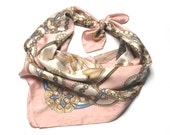 French Fancy - Pastel Print - Vintage Scarf