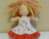 9inch Doll Sundress featuring Little Red Riding Hood  LAST ONE