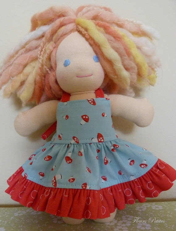 9inch Doll Sundress Featuring Aneela Hoey  A Walk In The Woods Tiny Mushrooms