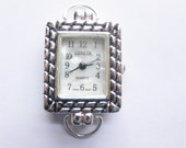 Silvertone WATCH FACE with Loops for an Interchangeable Watch Band