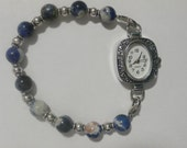 Interchangeable Beaded Watch Band Bracelet for a Loop Watch Face or MEDICAL ID Tag Bracelet