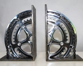 Crank Wheel Book Ends with Chain