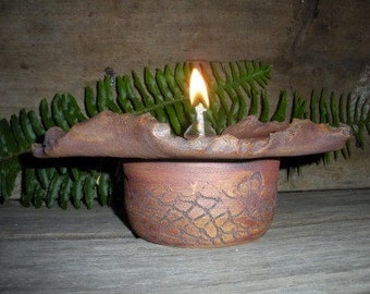 Oil Lamp One Of A Kind Organic