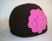 Large Flower Crocheted Hat