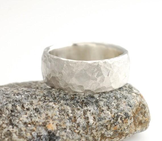 Reserved - Love Rocks - 8mm Palladium Sterling Silver Love Rocks Ring