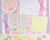 12 x 12 Premade Scrapbook Layout -- Baby Girl -- First Steps