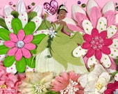 12 x 12 Premade Scrapbook Layout Disney Princess -- Tiana -- Princess and the Frog -- Girl