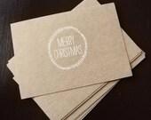 Christmas Cards on Kraft Paper