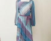 The Teal and Lavender Striped Dress.
