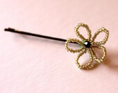 Antique White Flower Hair Pin