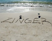 Custom Beach Sand Writing (pet memorials)