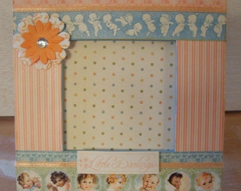 Little Darlings Baby Themed Decoupaged Mini Picture Frame