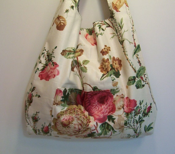 CLEARANCE Market Bag Cabbage Roses