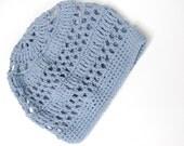Summer Cotton Beret Hat--Sky Blue