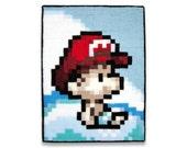 Baby Mario 6 x 8 Felt Collage