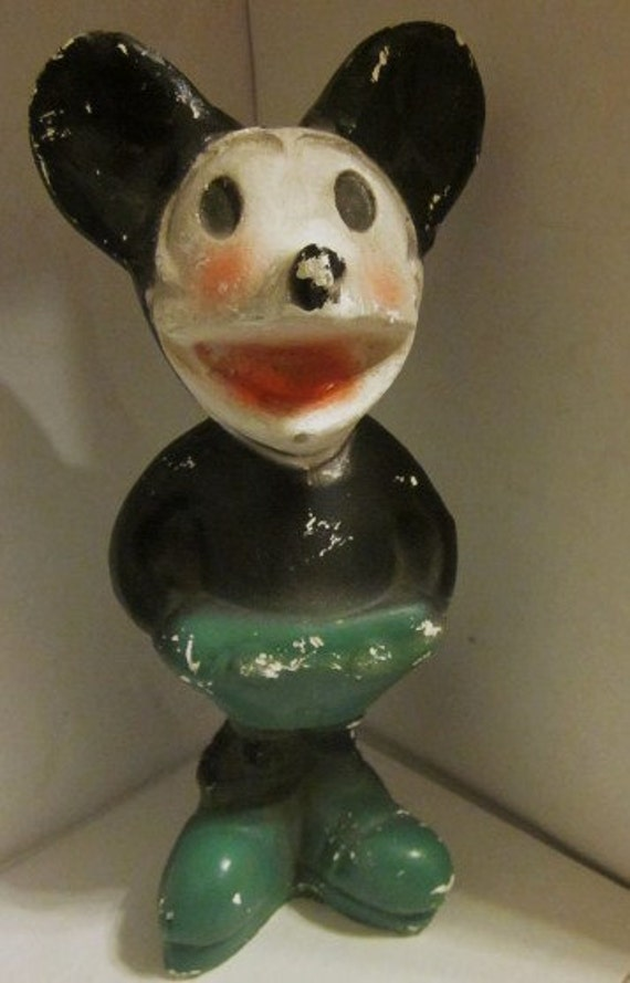 mickey mouse antique collectible 1930s needs tlc ceramic