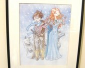Stark Sisters- Game of Thrones -watercolor- illustration