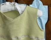 Spring Fling Sleep Wrap in Green with Birdie for newborn