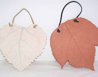 Ceramic Leaves, Handmade, Clay Leaves, Wall Hanging
