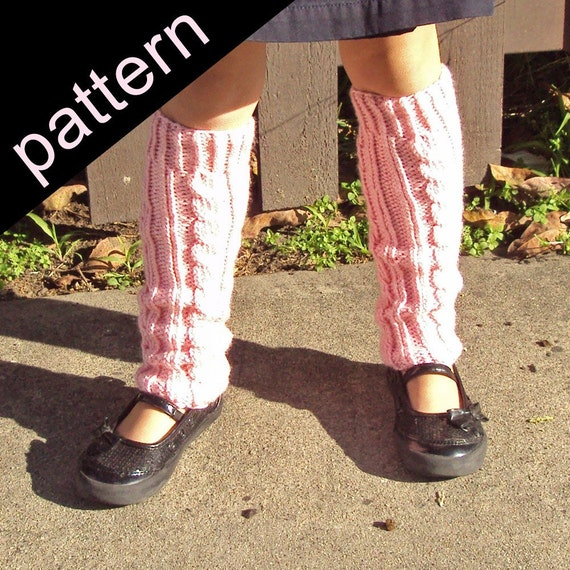 Cable Knit Leg Warmers Knitting Pattern : SALE 20% OFF Cable Leg Warmers knitting pattern by capegiftshop