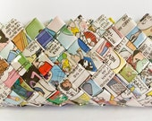 Sunday Funny Papers Eyeglass Case - Candy Wrapper Style