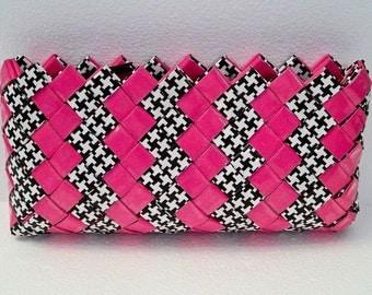 Too Cute Pink & Black Clutch
