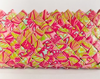 Pink Paisley Clutch