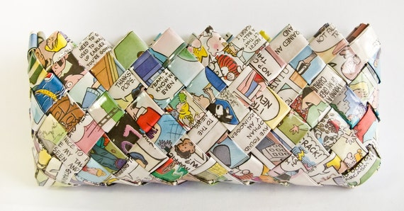 Sunday Comics Eyeglass Case - Candy Wrapper Style
