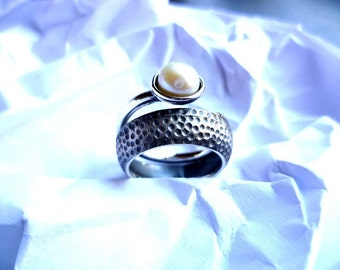 kharma pearl and silver ring