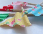 Cupcake Flags - SUGAR FLOWERS - 12 Pretty Cake Toppers, perfect for Weddings, Birthdays, Showers and Parties