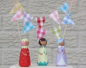 Cake Bunting - GINGHAM - A colourful Fabric Cake Topper, perfect for Weddings, Parties and Baby Showers