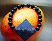 MOD : Black Stone Diamond Stretch Bracelet