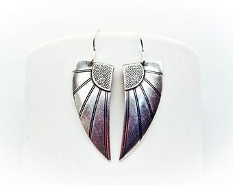 GRYPHON : Sterling Silver Wing Earrings