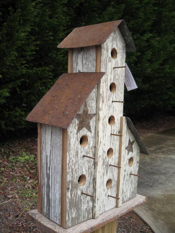 Items Similar To Large Barn Birdhouse Handmade Primitive
