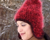 Charly's Hat in truly red mohair
